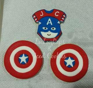 Captain America Sugar Cookies