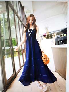 Maxi Dress - Nice Royal Blue