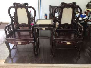 Antique Blackwood 红酸枝 太师Chair set