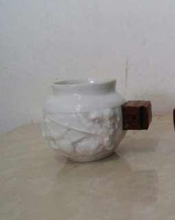畫眉雀白釉陶瓷雀杯
