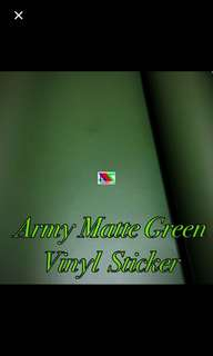 Matte green army vinyl sticker
