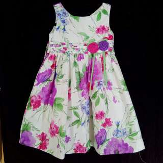 Floral watercolor formal dress