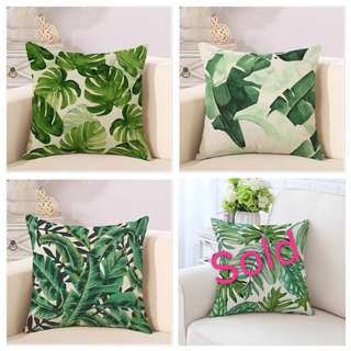 Rain Forest leave sofa pillow cover