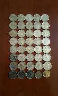 香港硬幣大一毫 全部 男皇頭 1949年共38個