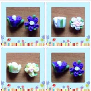 💐 SALE! Polymer Clay Flower. Great For Earring, Bracelet, Necklace, Pendant Etc