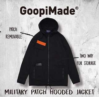 Goopi Military Patch Hooded Jacket  黑色1號
