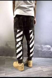 OFfwhite camo drawstring pants