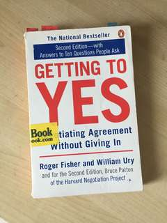 Negotiation: Getting to yes by Robert fisher and William Ury