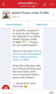 Featured on carousell