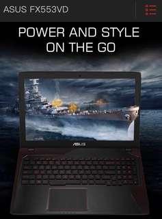 Asus ROG i7 7700 HQ 2.8GHZ (3.8GHZ), 256GB SSD, 4GB GDDR5 VRAM
