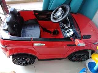 Electric Car. Range rover