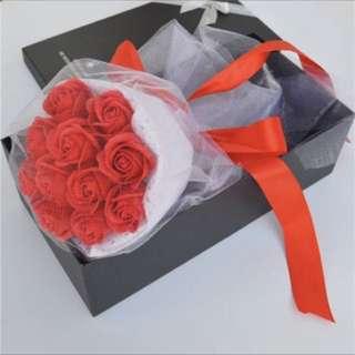 Romantic Valentine's Day Gift 11Simulation Rose Flower Soap Flower Bouquet