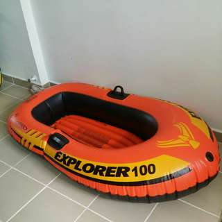 Intex Explorer 100 inflatable raft boat Without paddle * Floaters * buoy * swim gear * sea * water * toy * play *