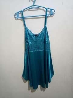 Teal blue lingerie