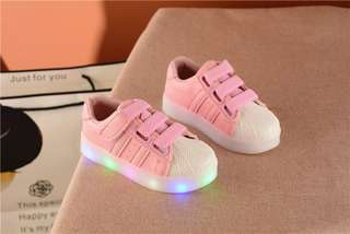 AD KASUAL ALL LIGHT UP KIDS SHOES