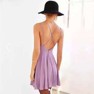 (INSTOCK) Pastel Purple Backless Party Dress Free Postage