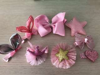 Assorted little girl's hair clips