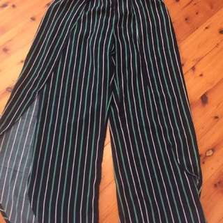 MADELINE ANTOINETTE- Striped pants Polyester Size 10