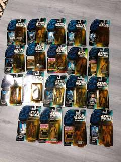 Star Wars The Power of the Force Lot 19 pcs