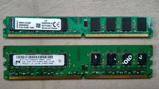 Ram Memory Kingston AMD & MT Dual 2GB DDR2