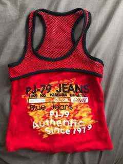 Red Top with Mesh back