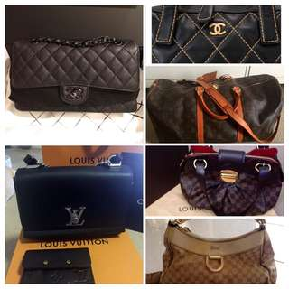 💯% Authentic Chanel, LV, Gucci, Burberry Bags