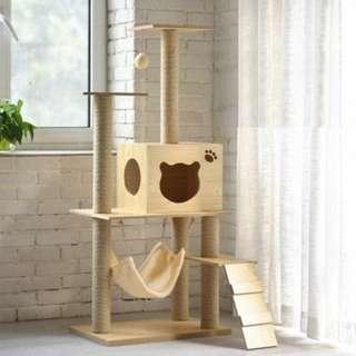Scandinavian Wooden Cat House