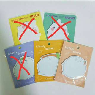 (2 for $2.50) Cute Post-its