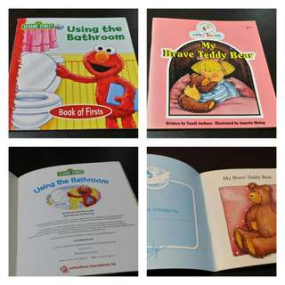 Set of 2 Small Children's Books (Sesame Street Book of Firsts and Cocky's Circle Little Books)
