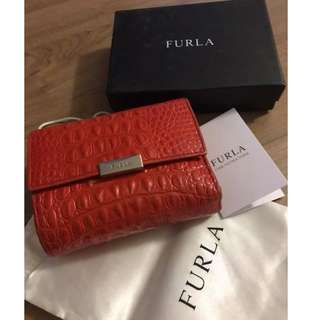 Furla Croc Leather Purse