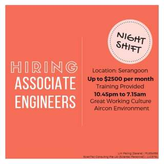 Night Shift Technicians (Up to $2500 / No Exp Req)