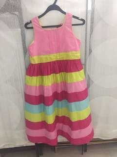 Pink Colourful Korean Style Dress