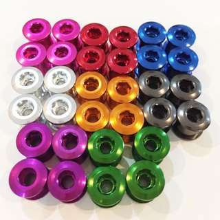 Chainring Bolts CNC Anodized Alloy for Bicylces