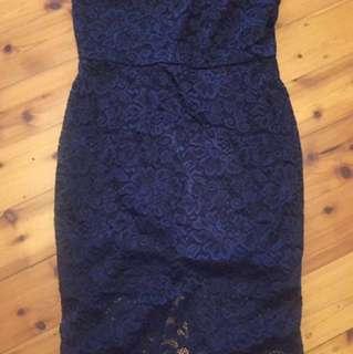 CATALOGUE - Blue lace Size M Dress