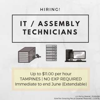 Temp Assembly Tech x 21 (IT Electronics) @ Tamp (Up to $11)