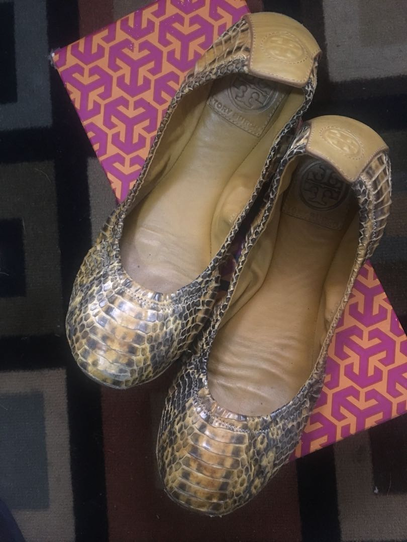 d1ae88299 100% Authentic Tory Burch Eddie Snake Python Leather 7