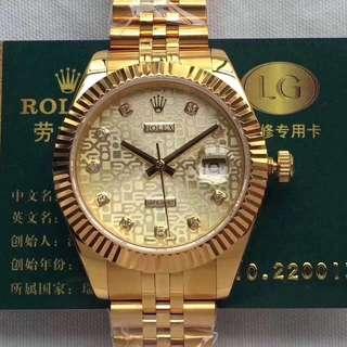 【復刻名錶解毒專區】勞力士日誌系列 現貨提供 全18K包金 錶殼 錶帶 表冠 永久使用不褪色 正品一比一複刻ETA2836機芯 藍寶石防刮鏡面 頂級做工 錶徑41mm