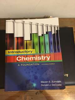 Introductory Chemistry A Foundation Annotated Edition
