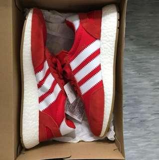 Adidas Original INIKI-紅色復古跑鞋