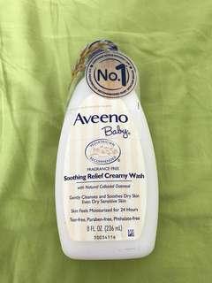 Aveeno baby soothing creamy wash