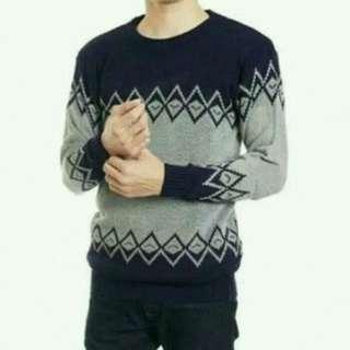 Sweater Navy COWOK,
