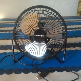 Portable USB electric fan CDR king