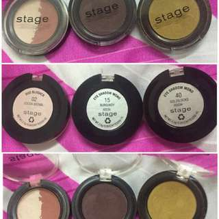 Authentic Stage Cosmetics Eyeshadows and Blusher Bundle