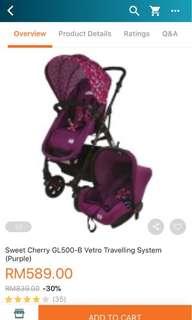 Stroller Sweet Cherry Vetro