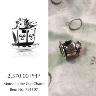 preloved AUTHENTIC Pandora mouse in a cup charm