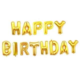 HAPPY BIRTHDAY Text Balloon
