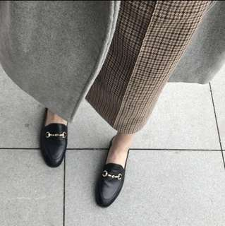 Brand new British style Leather loafer/slip on for ladies in black