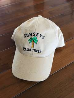 Sunset palmtress cap