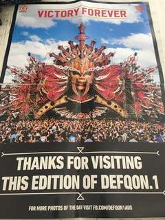 Defqon victory forever poster