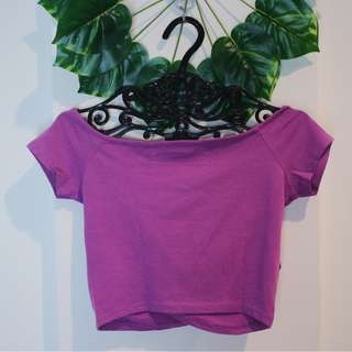 NEW LOOK Purple Crop Top Sz S